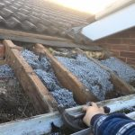 roof repair undertaken as the roof had a leak