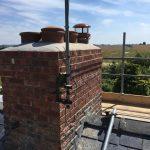 chimney repaired and brickwork undertaken