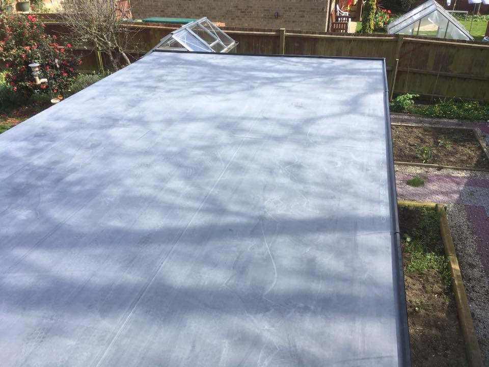 Recent Flat Roof Project By Ely Roofing Company