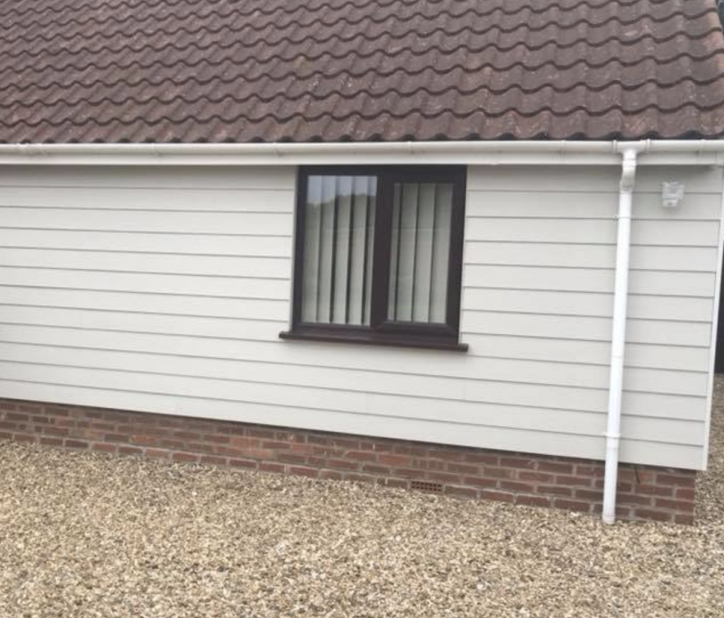 Picture of cladding installed by Ely Roofing Company